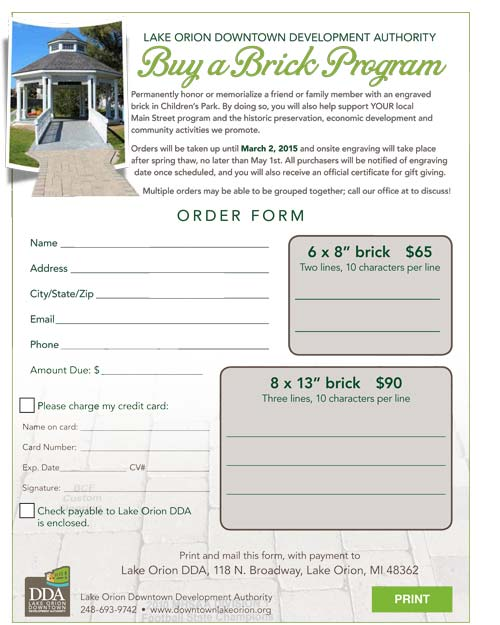 buy a brick order form